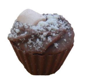 Rocky road chocolate cupcake