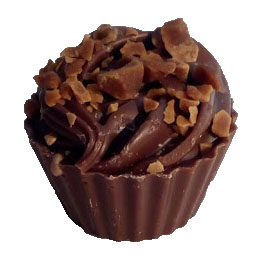 Sticky toffee chocolate cupcake