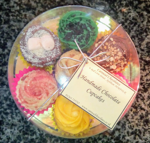 7 handmade chocolate cupcakes