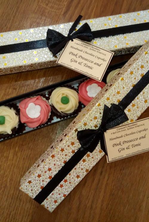 Christmas cupcake finger box