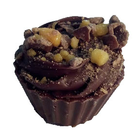Honeycomb chocolate cupcake