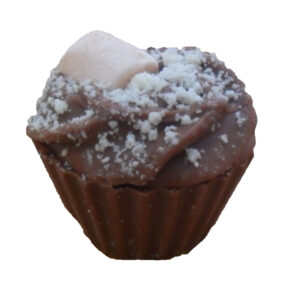 Rocky road chocolate cupcake