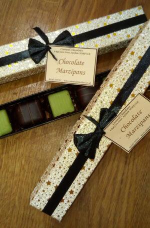 Chocolate marzipans