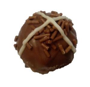 Hot cross bun truffle