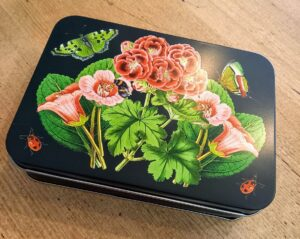 Black butterfly tin with 12 Chocolates