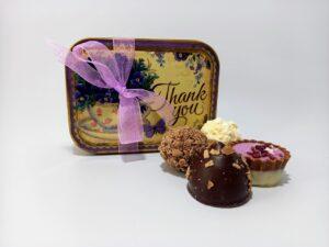 Thak You tin filled with chocolates