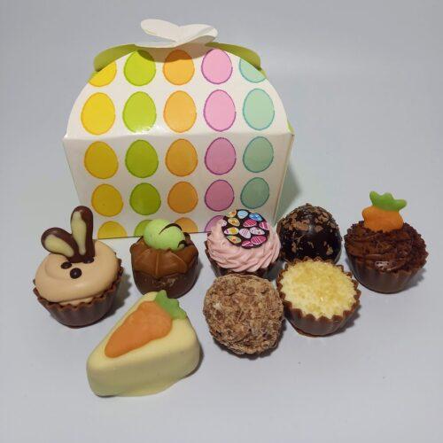 12 chocolate Easter ballotin box