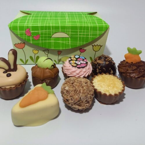12 chocolate Easter ballotin box