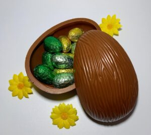 No added sugar Easter egg with eggs