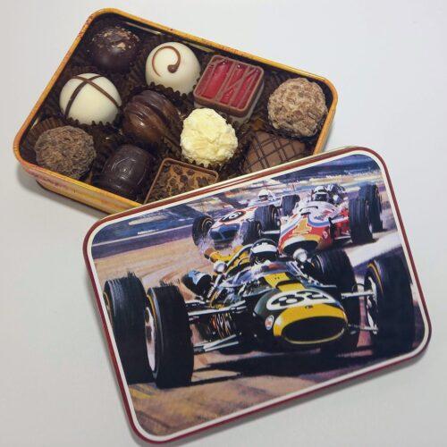 Vintage Car tin fille with Luxury Chocolates & Norfolk Truffles