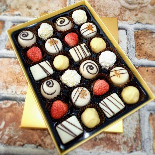 24 White chocolate selection box