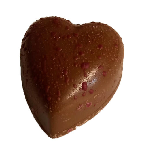 Rhubarb Heart Chocolate