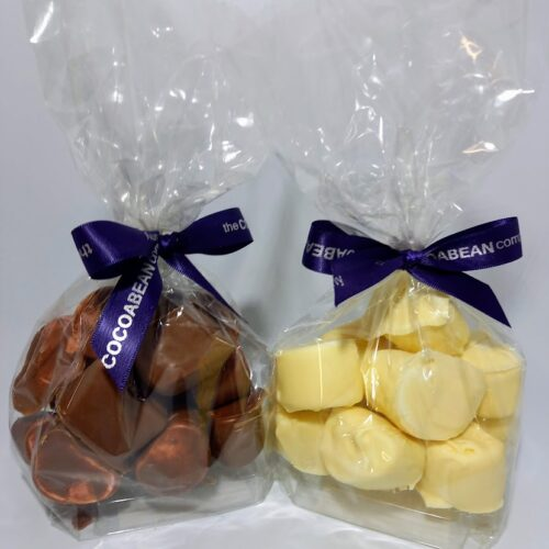 Milk and White Chocolate covered marshmallows
