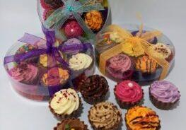 Chocolate cupcakes selection box